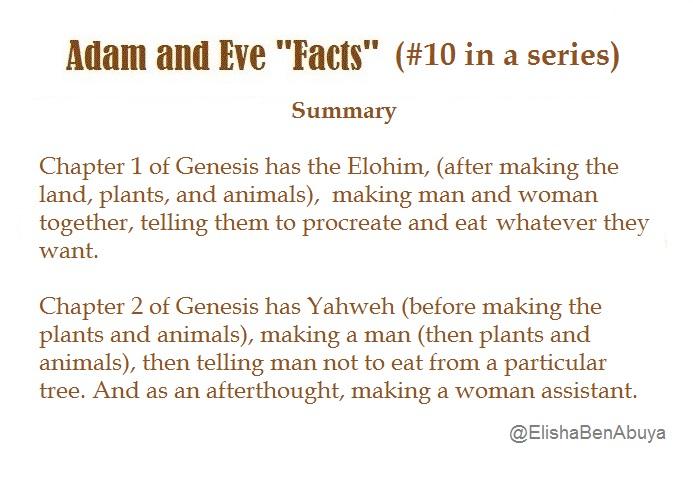 adam and eve summary
