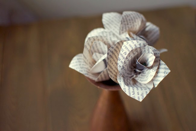 How to Make Book Paper Roses Paper Roses Made From Book