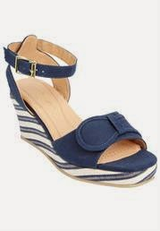Sophie patterned wedge sandal