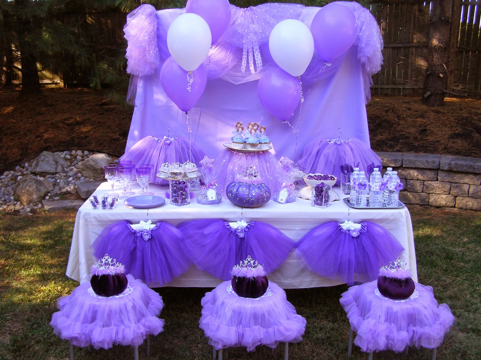 The princess birthday blog introducing our new little purple princess