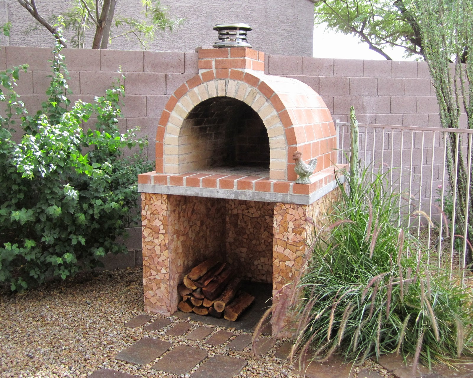 Brickwood ovens louis wood fired brick pizza oven in for How to make a brick stove