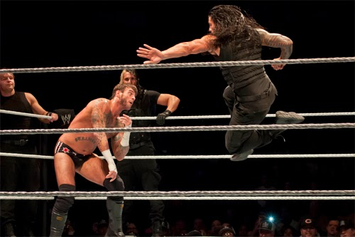 Big Show WWE Roman Reigns Superman Punch