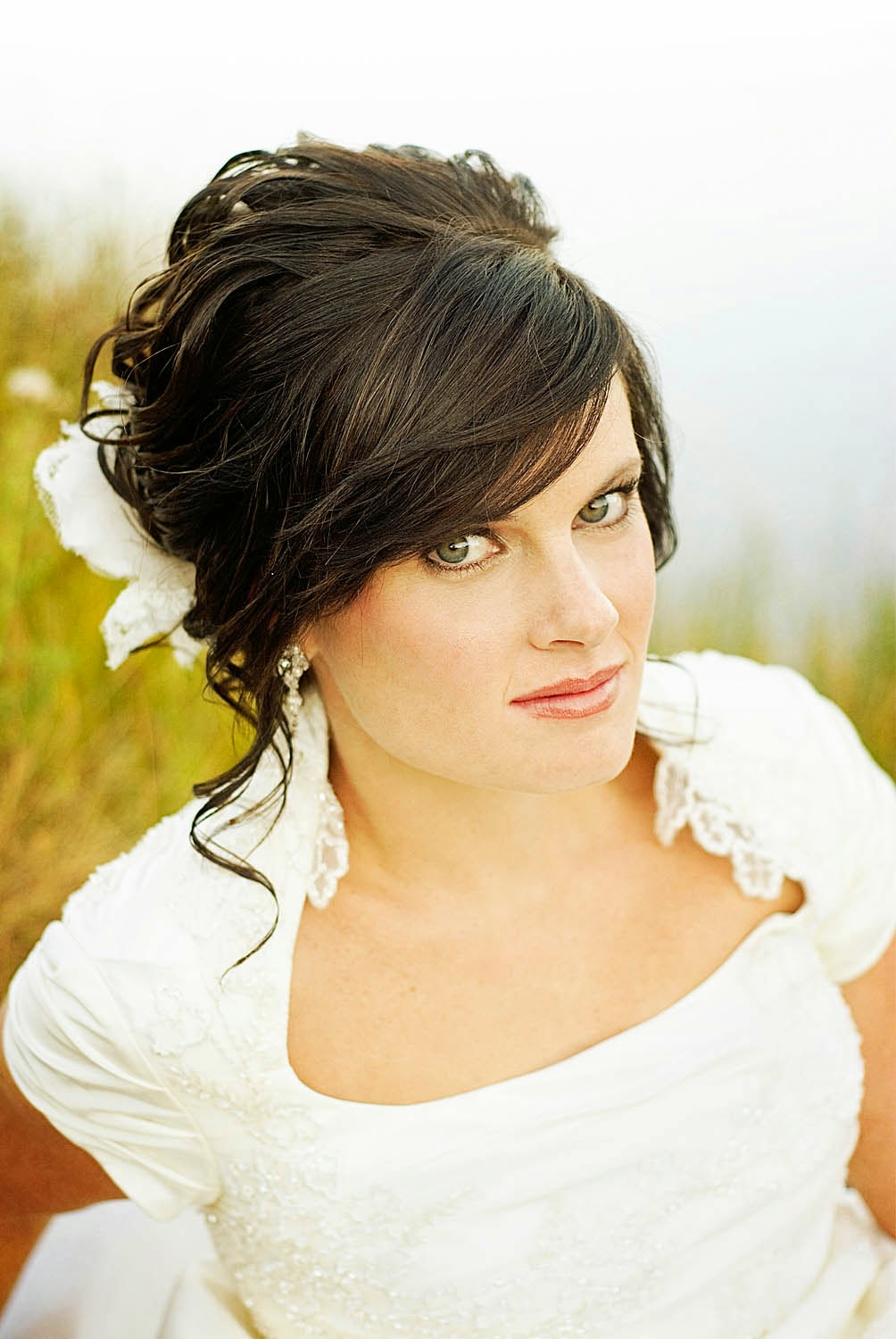 hairstyles for long hair with bangs for wedding