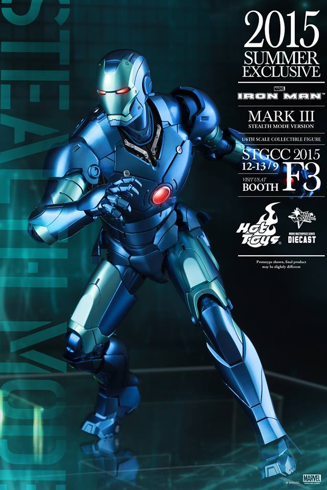 Hot Toys Iron Man Mark III Stealth Mode Version Diecast Series