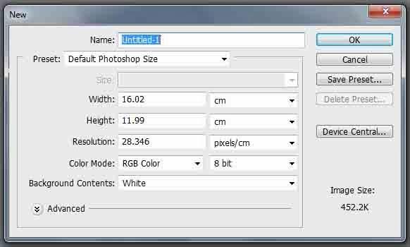 كيف تبدأ مع برنامج الفوتوشوب وطريقة إنشاء تصميم جديد CS5