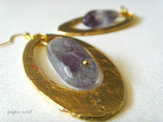 Amethyst+golden+earrings+orecchini+ametista+dorato