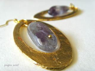 Amethyst+golden+earrings+orecchini+ametista+dorato