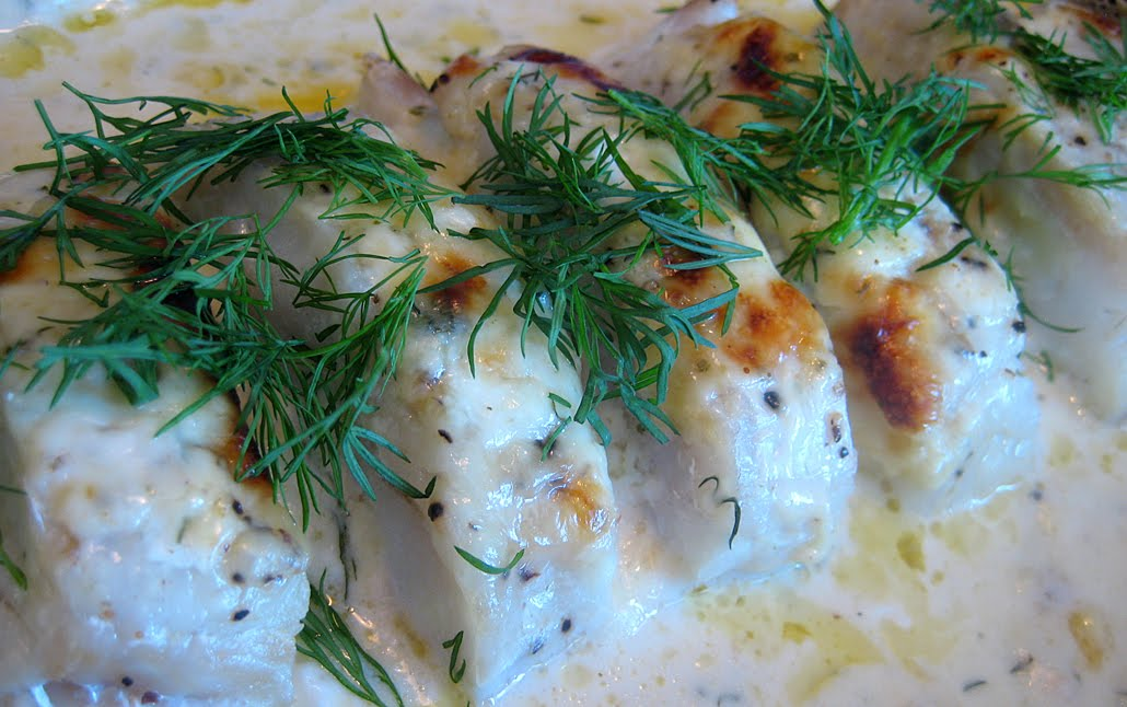 kokt torsk i ugn
