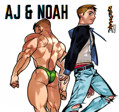 MUSCLE FICTION STORY: AJ & NOAH