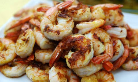 Tangy and spicy grilled prawns
