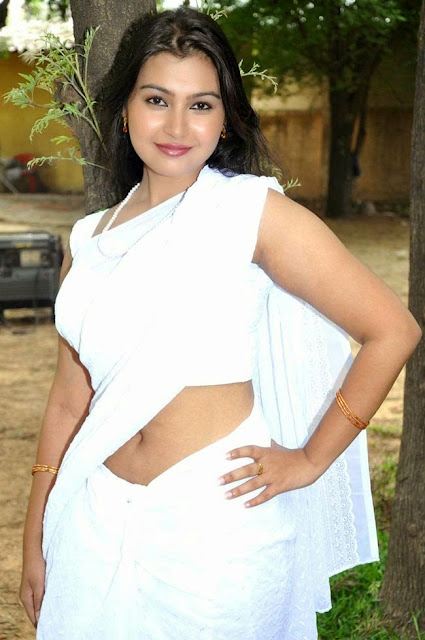 Actress Varsha K Pandey Stills in White Saree