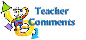Comment for Teachers