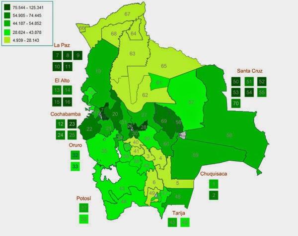 Bolivia tiene 63 uninominales