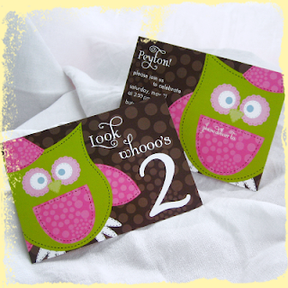 custom owl children birthday invitation