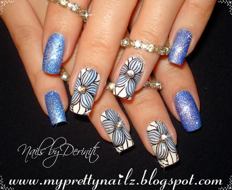 My pretty nailz easy easter spring leadlight flowers nail art easy easter spring leadlight flowers nail art design video tutorial and bps stamping plates review prinsesfo Gallery