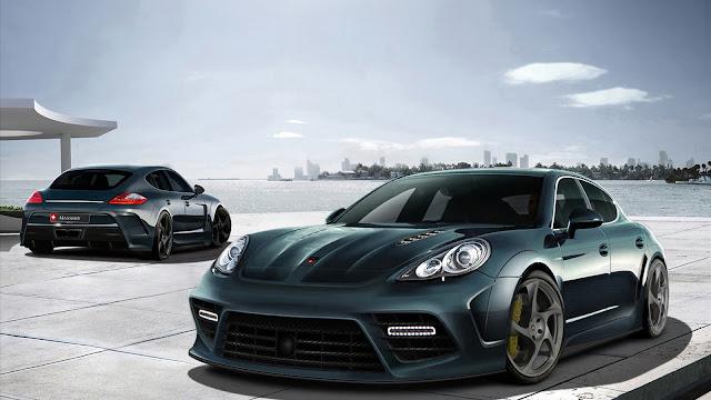Porsche Panamera Black Sports Car