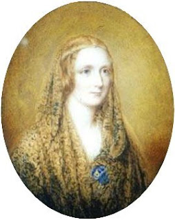 Portrait of Mary Shelley by Reginald Easton, 1857