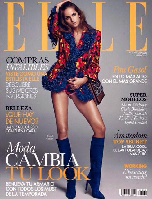 Izabel Goulart - Elle Magazine, Spain, September 2014