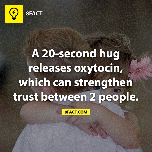 A 20-second hug releases Oxycontin which can strengthen ...