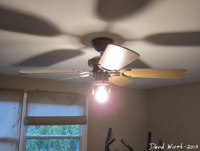 old ceiling fan, new ceiling fan