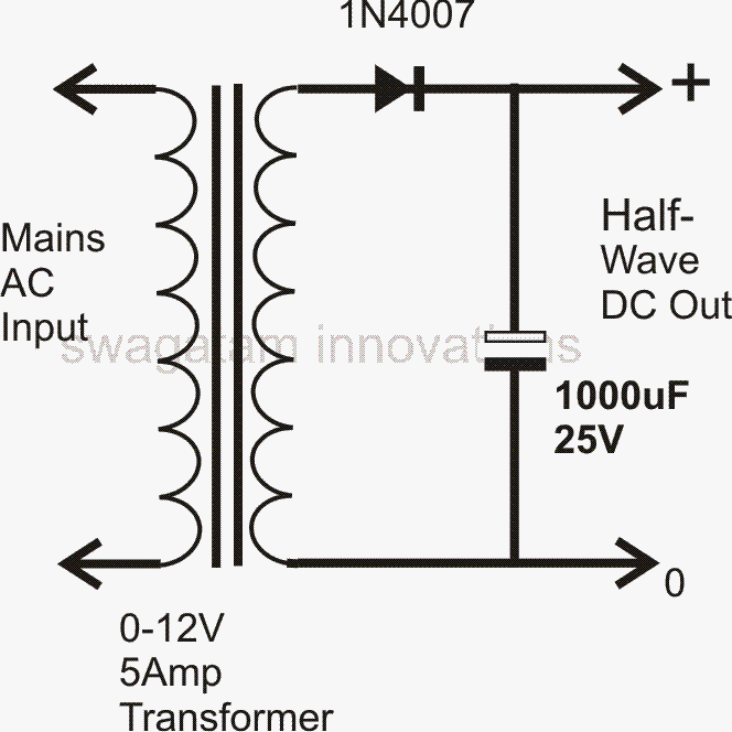 how to design a power supply circuit simplest to the most for a single diode power supply design the transformer s secondary winding just needs to have a single winding two ends