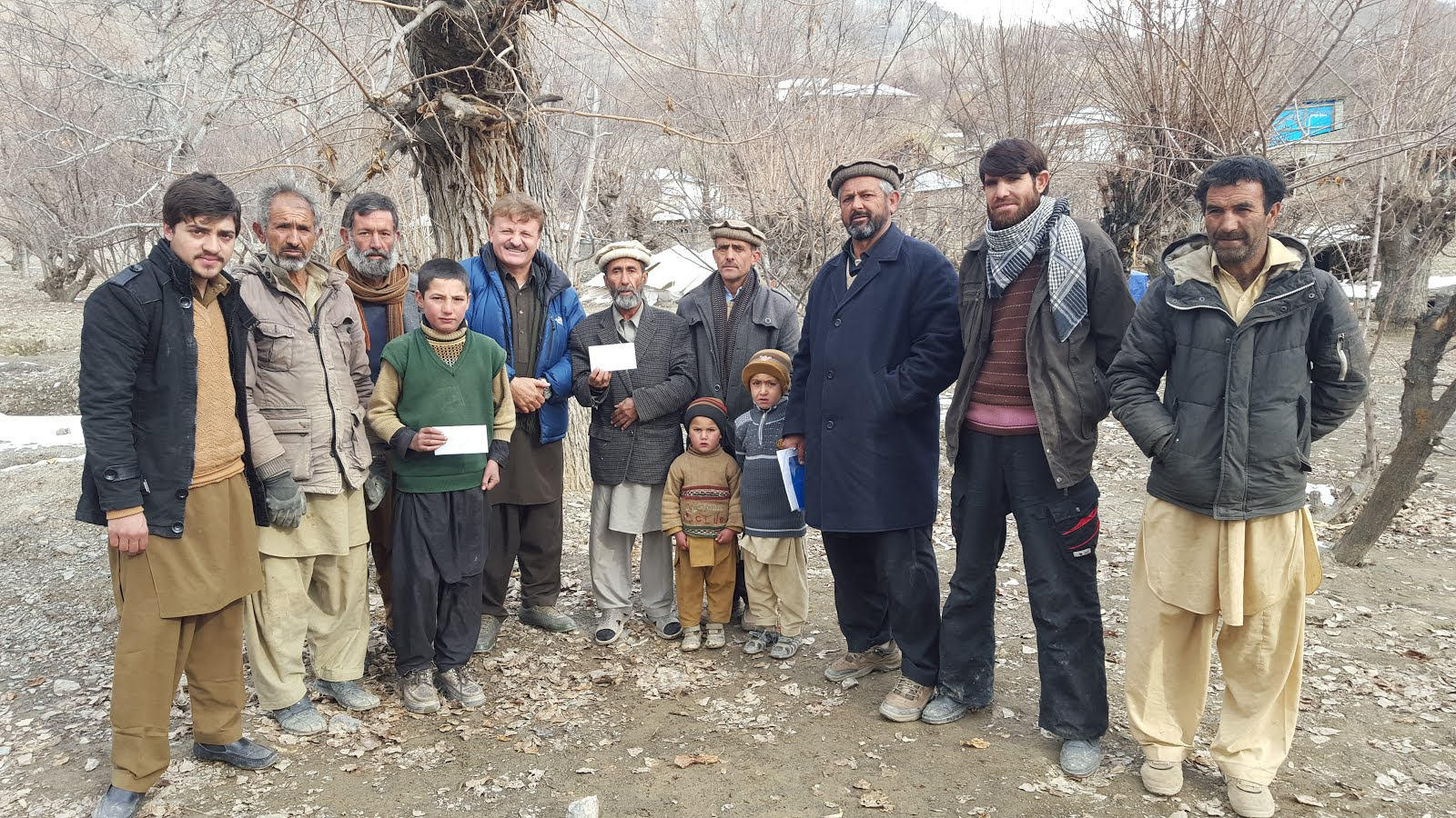 AHF RELIEF AID IN AWAROUGH CHITRAL
