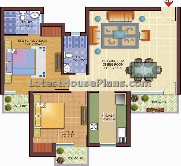 Double bedroom apartment house floor plans. Double bedroom apartment house floor plans   Latest House Plans