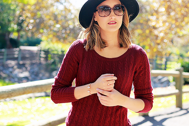 American Eagle Outfitters Oxblood Sweater
