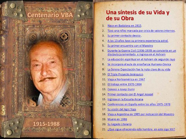 Centenario VBA: una sintesis de su vida y de su obra
