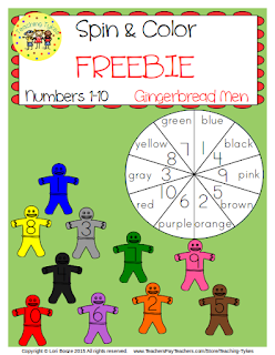 https://www.teacherspayteachers.com/Product/Numbers-1-10-Spin-and-Color-Gingerbread-Men-FREEBIE-2192777