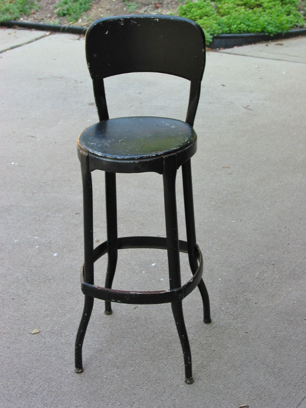 Vintage Metal Stool Industrial Chic Make Over