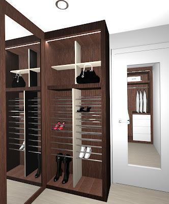 Estudio gl renders de dise o interiores para casa habitaci n for Banos modernos con walking closet