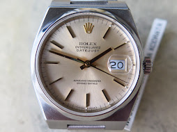 ROLEX OYSTERQUARTZ DATEJUST SILVER SILVER GOLD DIAL - ROLEX 17000 - MINT CONDITION
