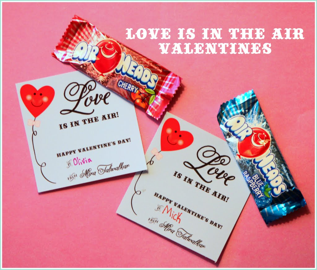 Free Printables Valentines Day Class Cards Air Heads Pencils