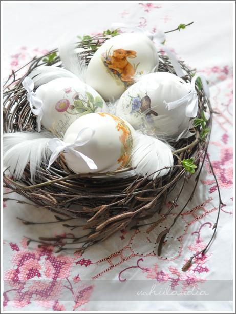 dekoracje wielkanoc - pisanki ceramiczne