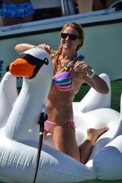 swan inflatable raft