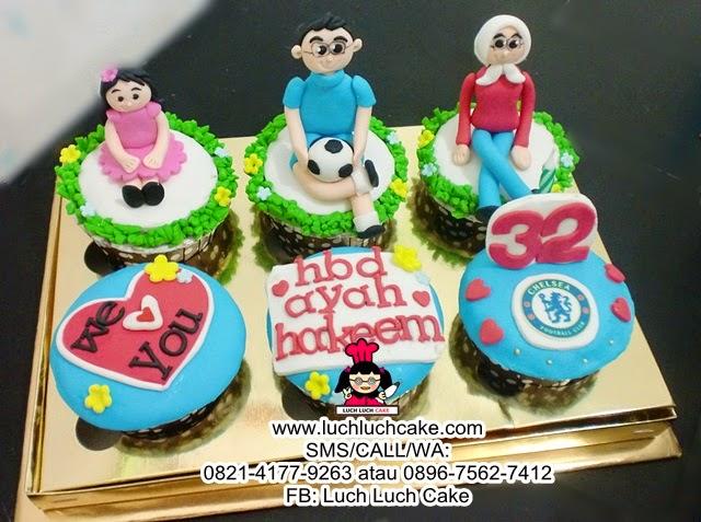 Cupcake Ulang Tahun Tema Chelsea Daerah Surabaya - Sidoarjo