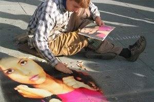 Efeito de desenho com giz colorido para foto montagem