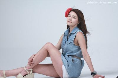 22 Han-Ga-Eun-Denim-Shirt-01-very cute asian girl-girlcute4u.blogspot.com