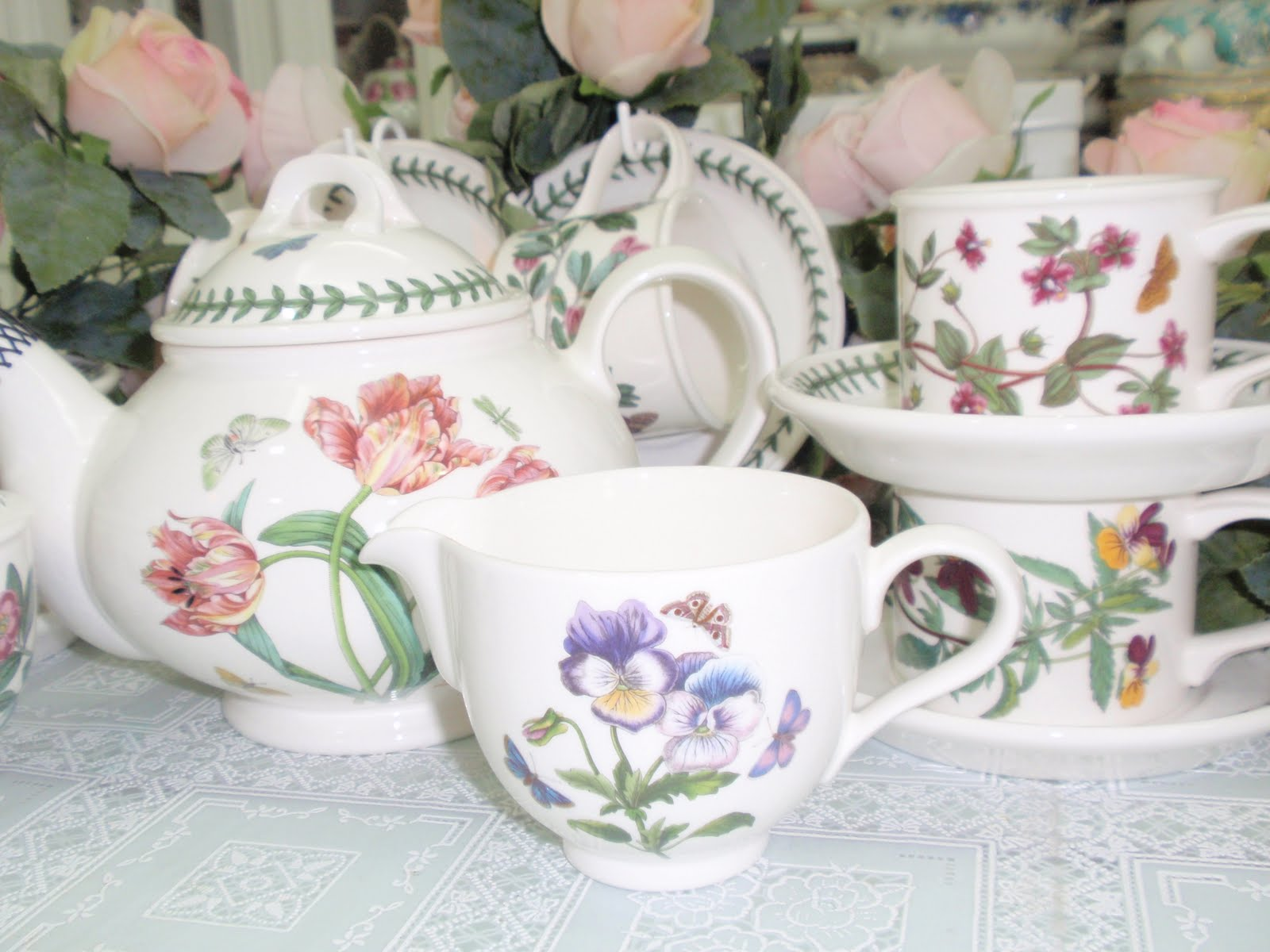 Lovely Treasures From English Garden Portmeirion Botanic Garden Tea Set
