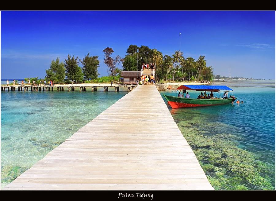 Pemandangan di Pulau Tidung Kepulauan Seribu