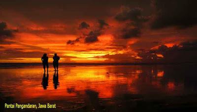 Sunset Pantai Pangandaran, Jawa Barat
