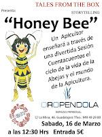 Oropéndola, Guadalajara, Storytelling, cuentacuentos en inglés, cuentos, inglés, planes con niños, infantil, infancia, abejas, bee, miel, honey, sesión infantil