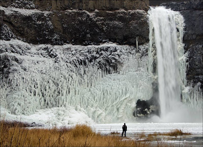 Palouse Falls in winter.