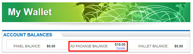 ad package balance profitclicking