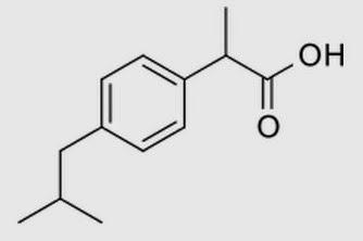 (RS)-2-(4-(2-methylpropyl)phenyl)propanoic acid ibuprofen advil nurofen chemical structure drosophila melanogaster