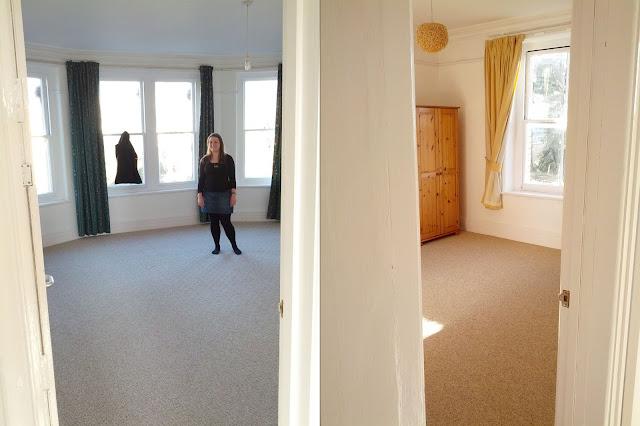 A sunny, empty flat
