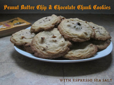 Peanut Butter Chip & Chocolate Chunk Cookies with Espresso Sea Salt | The Economical Eater