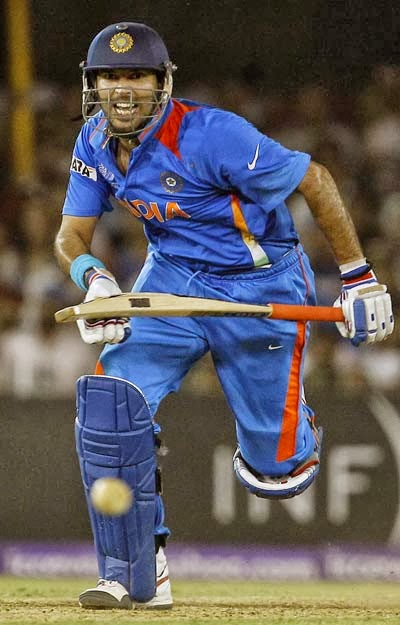 yuvraj singh - yuvraj singh image working hard for indian team