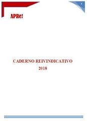 APRe! Caderno Reivindicativo 2018